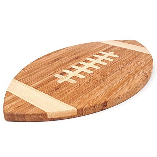 40YARDS American Football Brettchen aus Bambus-Holz für Frühstück, Abendbrot oder als Schneidebrett (30 x 17 cm)