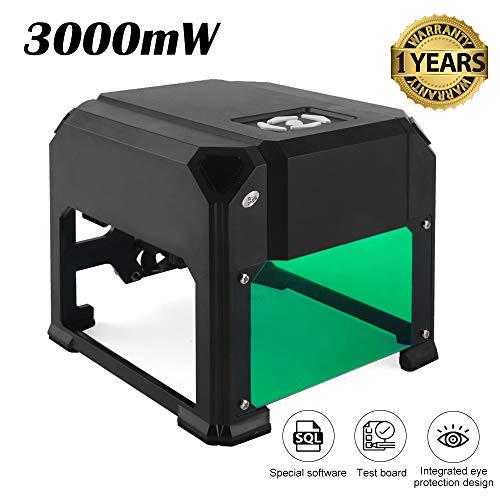 3000mw K5 Laser Engraver, keine Installation erforderlich und super einfach zu bedienen für den Heimgebrauch DIY Mini-Gravierdrucker für Windows-Betriebssystem