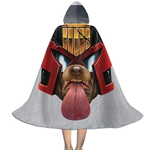NUJSHF Judge Dredd Dog Snapchat Filtro Unisex Nios Capa con capucha Capa Capa Halloween Navidad Fiesta Decoracin Papel Cosplay Disfraces Outwear
