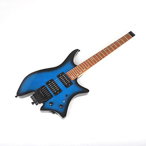 KEPOHK 38 pulgadas Guitarra eléctrica Maple Wood sin cabeza 6 cuerdas Performance...