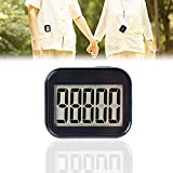 Pedometer Clip On, Step Counter for Walking for Women with Large Display and Lanyard, Pedometers for Steps Clip On for Seniors, Step Tracker for Men, Kids (Estimate Miles by Yourself)