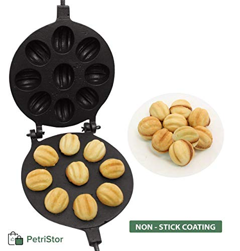 Walnut Cookie (Oreshek) Maker 9 nut Non-stick Cookies Pastry