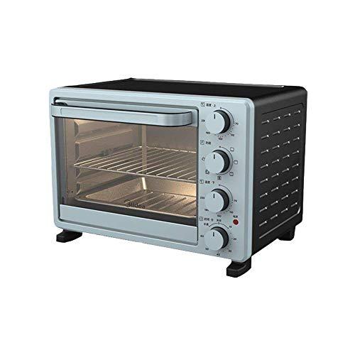 Riyyow Cocina Profesional 25L Mini Horno Azul, Olla de arroz multifunción, Control de Temperatura Ajustable y Temporizador, diseño Curvo Simple, Anti-Bump Suave y Suave -1600W