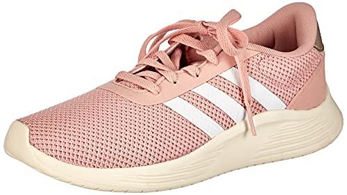 Adidas EG3287, Zapatillas de Atletismo Mujer, Blanco/Rosado, 40 EU