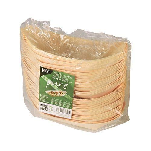 Papstar Fingerfood Schalen / Holzschalen,