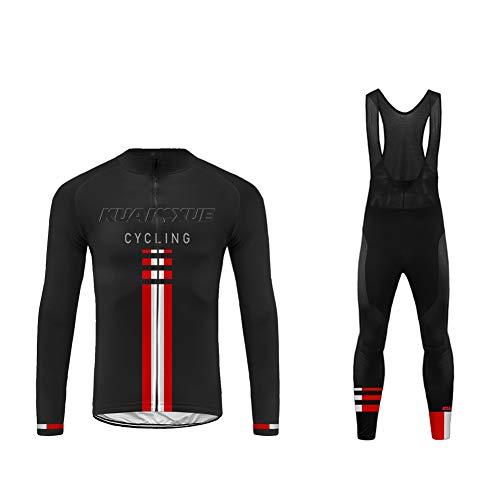 Sports Wear Uglyfrog Ropa Ciclismo Invierno Fleece Warm para Hombre Ciclismo Maillot MTB de Manga Larga y Culotte Pantalones Acolchado 20D