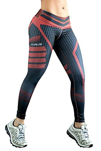 COCOLEGGINGS Ladies Slimming Butt Lift Sport Fitness Cropped Leggings Black S