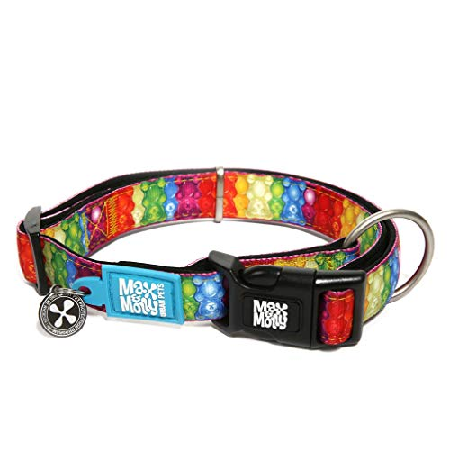 Max & Molly Classic Smart ID Collar, Ultra Comfortable Padded Neoprene Dog Collar with Lost Pet Protection Tag, Jelly Bears Small