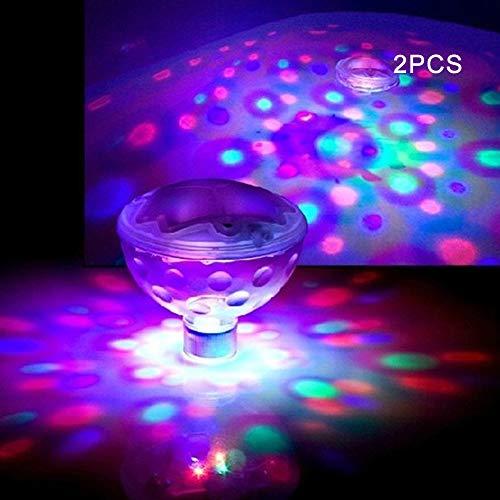 Alicer LED-Schwimmleuchten/Unterwasserleuchten mit Discokugeleffekt, für Bad, Spa und Pool(2 Stück)