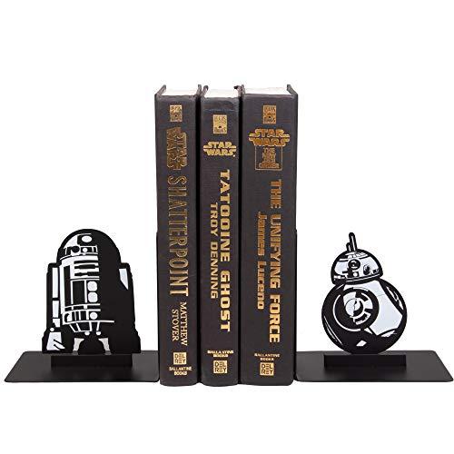 Seven20 Star Wars Droid Buchstützen – dekoratives Metall R2-D2 und BB-8 Designs