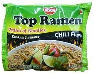 Nissin Top Ramen Chili Flavor Instant Soup - 3 oz (6 Pack)