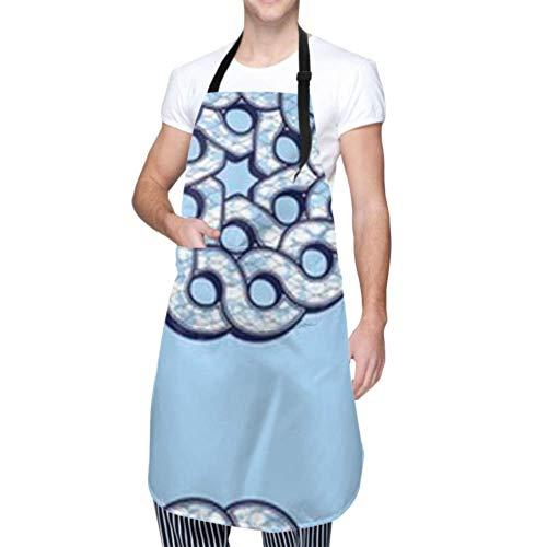 ZANSENG Unisex Schürze, wasserdicht langlebig verstellbar afrikanische Mode Nahtlose Muster Ornament vibrierende Kochschürzen Damen Schürze für Geschirrspülen BBQ Grill Restaurant Garden