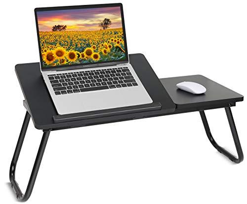 Hossejoy Mesa multifunción ajustable en ángulo para portátil, portátil, bandeja de cama, portátil, mesa de madera, mesa auxiliar para sofá, cama, terraza, balcón, jardín, etc. (70 x 30 cm)