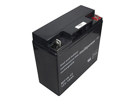 Blei-Gel Akku Multipower MP18-12 PB AGM-Technik für Powerpack Kompressor Ladestation Starthilfe Booster Einhell Panther EUFAB Kunzer APA Voltkraft GYS Jumpstarter 12V Accu Batterie Battery Bateria