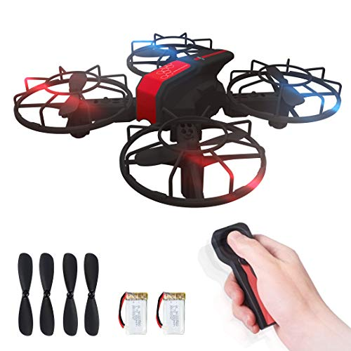 CURVAN DRONE for Children and Beginners + Extra Battery and 4 Propellers - Quadcopter Drone with Security Protections | Command 2.4G G-Sensor | Features Height Control / Turns 360 ° / 3 Speeds