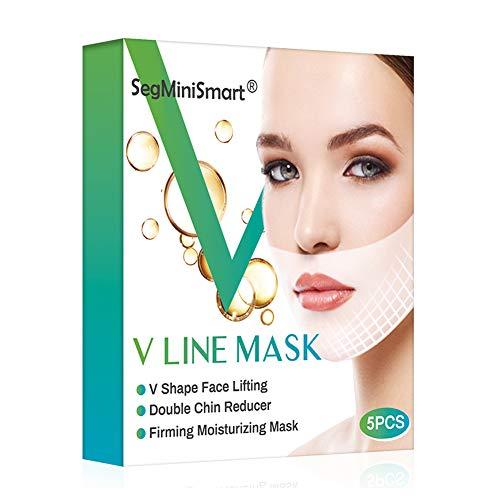 Mascarilla Papada,V Line Máscara,Facial Reafirmante Mascarilla,parche de estiramiento facial V Lifting,máscara de elevación V para levantamiento de mentón
