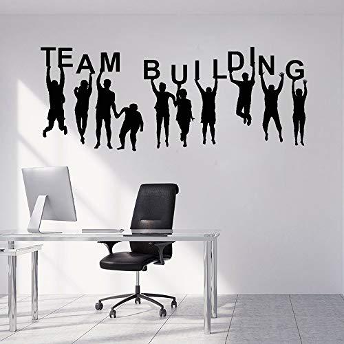 Bau Business Office Arbeitsteam Menschen Vinyl Wandtattoo Wohnzimmer entfernbare Wandaufkleber Raumdekor Wandaufkleber57x23cm