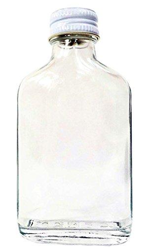 Nutley 's 100 ml schroefdop flesjes 3 x 100 ml kleine glazen fles flesjes zilveren schroefdop - Sloe Gin bruiloftszanden, transparant, 14 x 25 x 3 cm