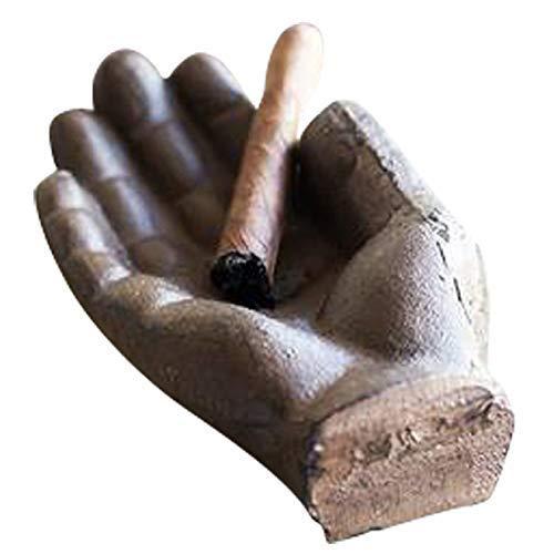 Comfify Zigarrenascher aus Gusseisen in Handform - Für Zigarren, Zigaretten oder dekorative Zwecke - Metall - Außen, Terrasse oder Innenbereich