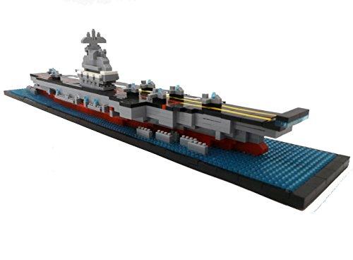 Flugzeugträger Bausteine Schiff, 1300 Teile, Konstruktionsspielzeug