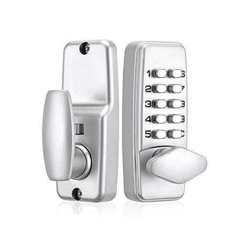 Cerradura digital con contraseña mecánica, cerradura de contraseña de 1 a 9 dígitos, cerradura para puerta de balcón de cocina, botón de pulsador, teclado, botón de bloqueo para la seguridad del hogar