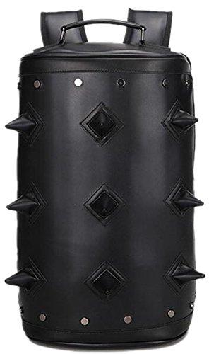 Mochila Punk Family para hombres y mujeres de ocio deportes cilindro viaje personalidad mochila, color negro, tamaño talla única