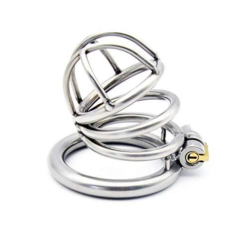 LHJtt Ergonomic Stainless Steel Ḉhāstity déviḈe Ḉock Cage Péйis Lock Stealth Lock Male Fetish Virginity Ḉock Ring Chastity Belt Sunglasses Yoga (Size : 40mm)