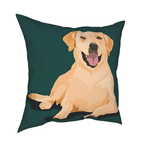 Pillow Funda Fundas de Almohada 45x45CM Labrador Dog At One Color decoración para la decoración del hogar Oficina Sofá Holiday Bar Café Boda Coche