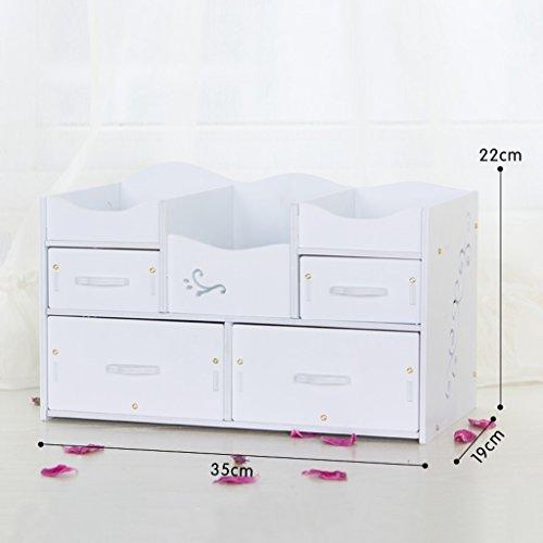 Stockage de bureau Boîte de rangement cosmétiques Tiroir Grand Dresser Soins de la peau étagère Bijoux Corée Finition (couleur : N ° 3)