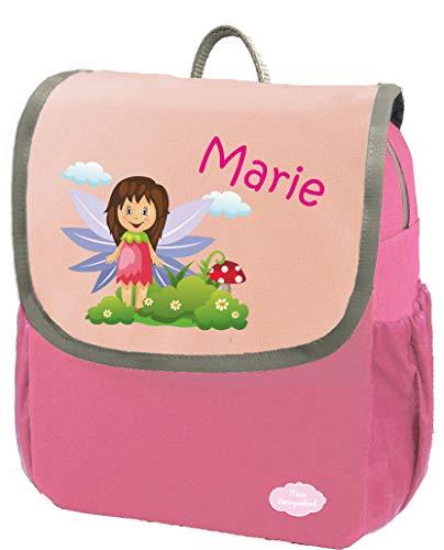 Mein Zwergenland Kindergartenrucksack Happy Knirps Next mit Name Mädchen, 6L, Pink