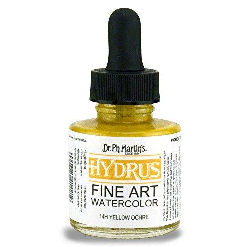 Dr. Ph. Martin's Hydrus Fine Art Watercolor, 1.0 oz, Yellow Ochre (14H)