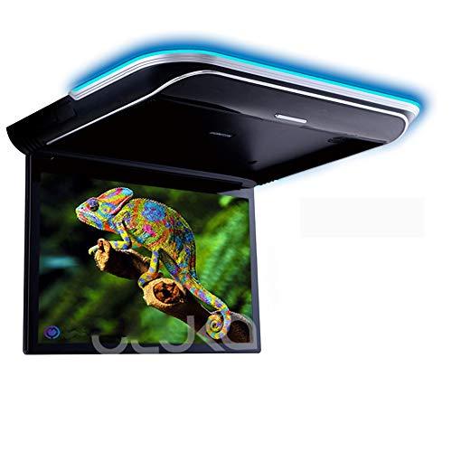 LZHYA Monitor De Techo De Coche, Car Stereo Player MP5 con Pantalla Abatible, Overhead Car TV Pantallas, con HDMI USB Ángulo De Visión Completo IPS HD, 1366 * 768, 11,6 Pulgadas (Black)