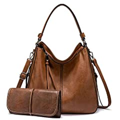 💛【Fashion Hobo Bag】: made of soft and durable FAUX leather(VEGAN leather), featuring anti-scratch and slightly waterproof; With classic and fashionable Gun-Metal hardware, side tassel, adding much elegance. A gorgeous, fashionable and practical handb...