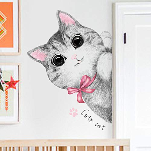 Sticker Porte Kitty Mignon Enfant Décoration Murale Autocollant Chambre Coin Layout Autocollant Mural