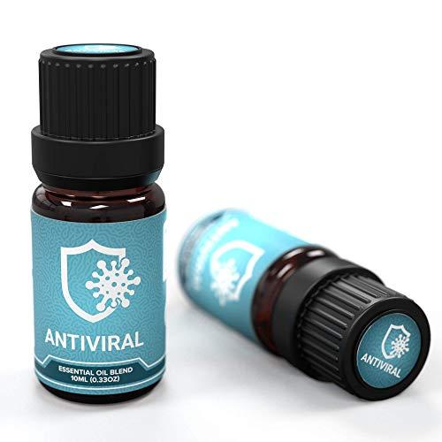 Ecodrop Antiviral; Mischung ätherischer Öle aus Ravensara, Teebaum und Zedernholz - Aromatherapie, Bad, Spa, Diffusor-Duft - Wohltuend bei Erkältungen - Entspannender Duft, 10ml