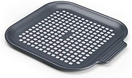 Instant Pot Official Air Fryer Nonstick Perforated Pizza Pan Gray product image