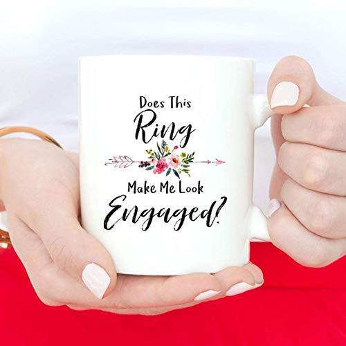 Laat deze ring me er verloofd uitzien, verloofde mok, bruid om te zijn, verlovingsmok, verlovingsgeschenk, verloofde mok