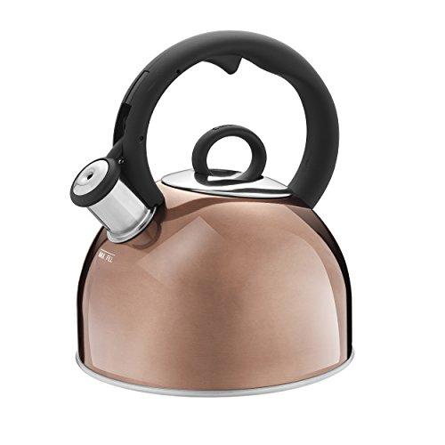 Cuisinart Aura, Metallic Stainless Steel Stovetop Tea Kettle, 2 Qt, Mettalic Copper