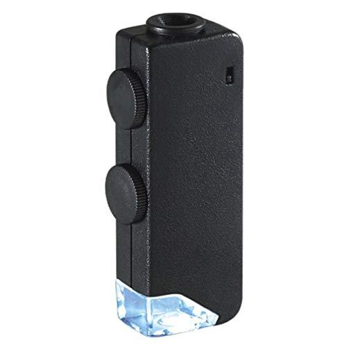 Microscopio De Bolsillo, Mini Microscopio Con Zoom Manual 60X-100X, Lupa Con Luz LED, Utilizado Para Impresión Industrial, Identificación De Joyas Y Jardinería Doméstica