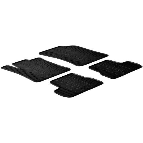 Gledring Set tapis de caoutchouc compatible avec Citroen C3 2010-10/2016 (T profil 4-pièces + clips de montage)