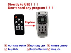 Controller work with Air Conditioner Great capacity and various functions A replacement controller and works as well as the original Quick delivey, Usually takes 9-19 days for delivey No code or instruction needed