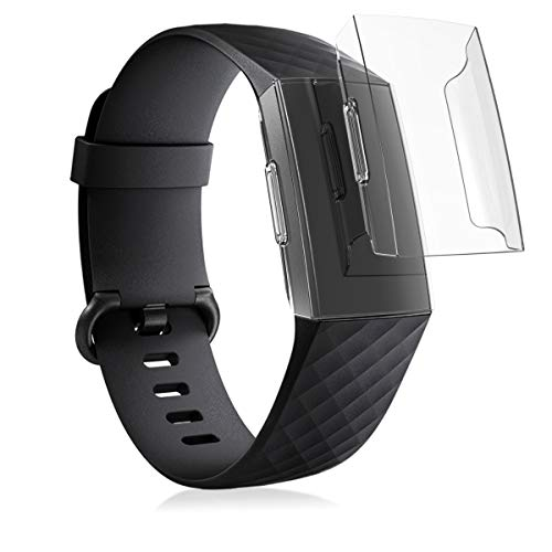 kwmobile 2X Hülle kompatibel mit Fitbit Charge 3/4 - Fitnesstracker Case Set Transparent - ohne Tracker