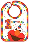 amscan Sesame Street Elmo Turns One Baby Bib, Birthday One Size, Multicolor