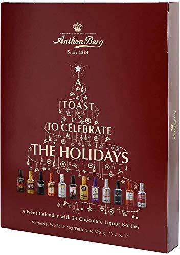 Anthon Berg - Liquori al cioccolato - Calendario dell'Avvento 2020 con famose marche di liquori, 24 bottiglie da 375 g, con una deliziosa imbottitura liquida.
