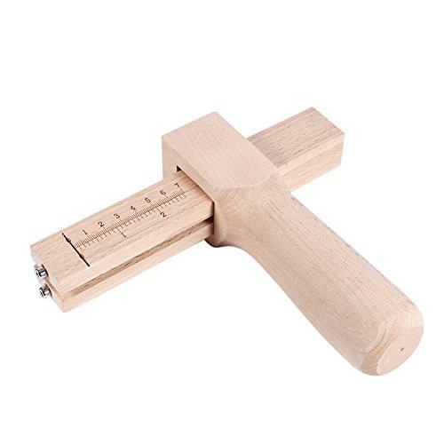革工具 ストラップカッター ウッドクラフトストリップ 木製 革細工 レザーツール レザークラフト DIY レザークラフト 替刃5枚付き 目盛り付き レザークラフトツール大工