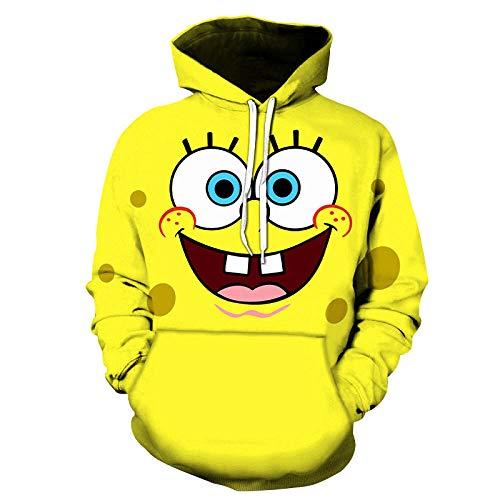 mglxzxxzc Junge Mädchen Kinder Cartoon Muster Spongebob Schwammkopf 3D Hoodie Männer Frauen Kinder Mode Langarm Sweatshirts Streetwear Kleidung Jacke-Lms-172_XL