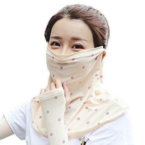 Akemaio Transpirable Protector Solar Facial Bufanda para el Ciclismo, a Prueba de Polvo de Cuello Guardia Colgando de protección UV de la Bufanda de Seda del Hielo Bragas de Cuello Babero