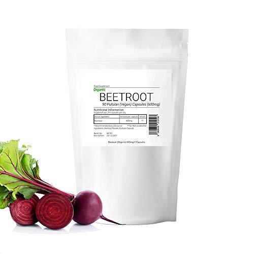 Organic 600mg Beetroot Beta Vulgaris 180 Vegan Capsule(2 Month Supply) Suitable for Vegan Vegetarian Halal Kosher 100% Pure Boosts Energy