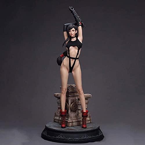 ZH Figura da Azione, 1/4 Fighting Goddess Tifa.Lockhart Statua Modello, 58Cm Final Fantasy VII Alta qualità Materiali di Protezione Ambientale in Resina Fatto A Mano Giocattoli Ornamenti Giocattolo