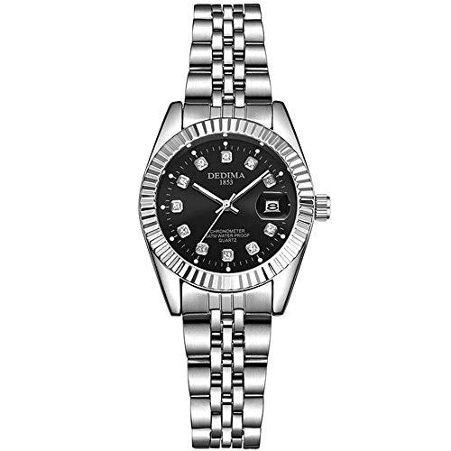 ZSDGY Pares De La Manera De Acero Reloj De La Correa De Gama Alta De Los Hombres Y De Las Mujeres Calendario Reloj De Oro A-Woman